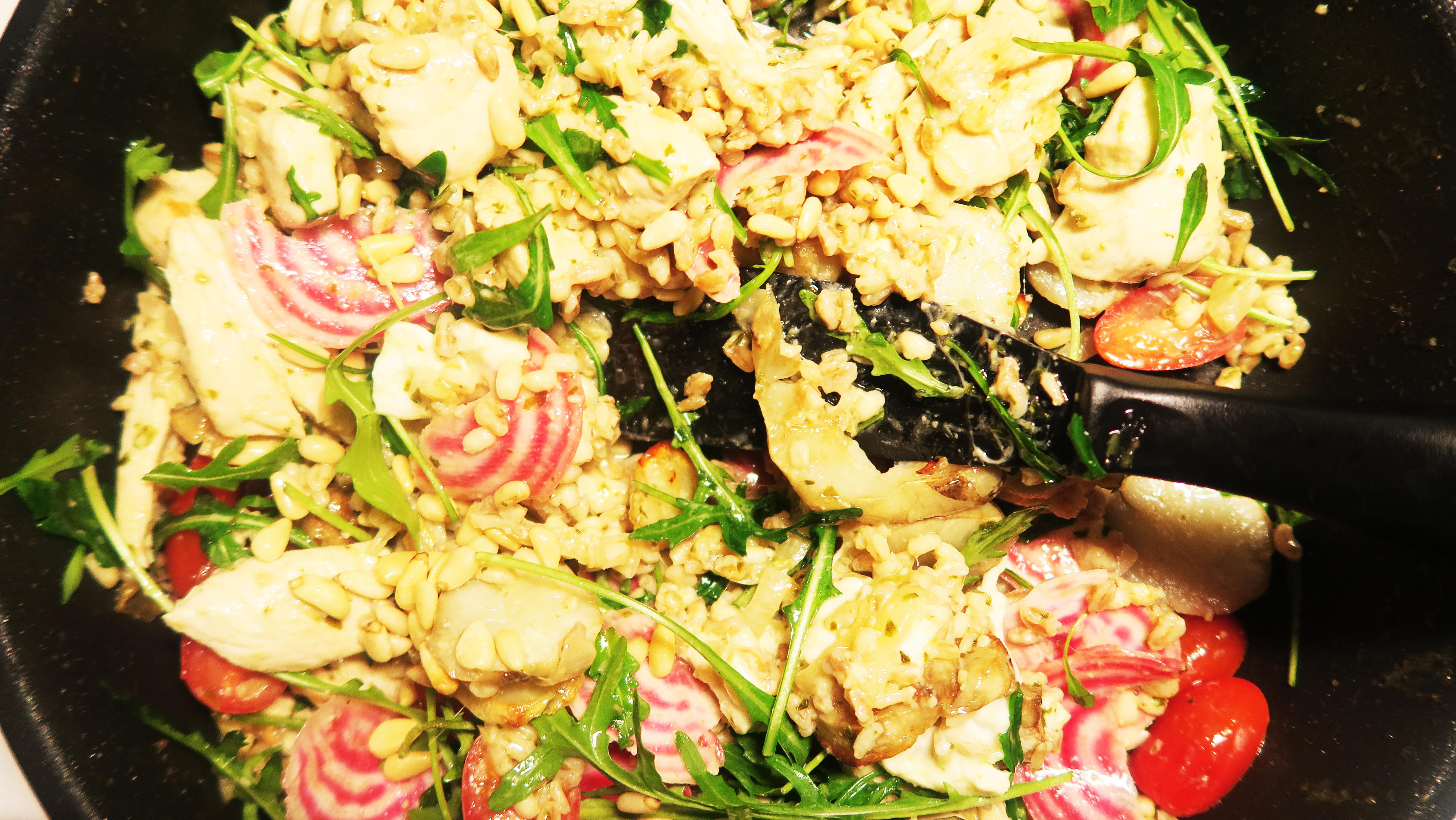kyckling pesto sallad