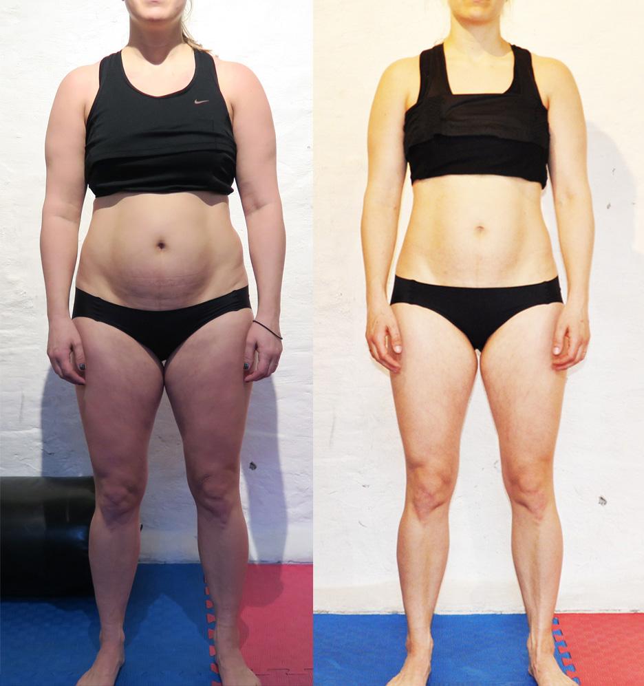 mage före och efter graviditet